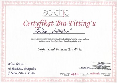 Certyfikat brafittingu