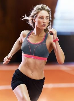 Run bra S5044 Shock Absorber grey/pink