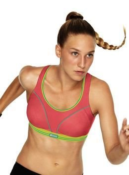 Run bra S5044 Shock Absorber rouge/citron
