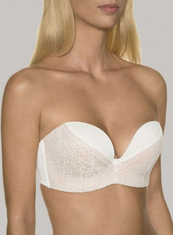 Perfect Strapless Lace Wonderbra ivory