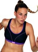 Run bra S5044 Shock Absorber black/purple